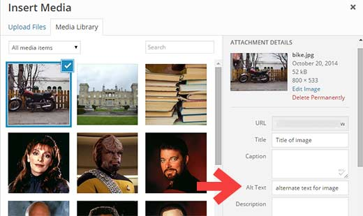 How to add alt-tag to images in WordPress Media Library during upload